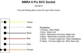 sbs4dcc dcc electrical interface connectors Dcc Decoder Wiring Diagram 6 pin plug to nem651 standard (i e \
