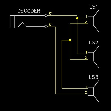 sbs4dcc wiring multiple speakers to a decoder rh sbs4dcc com Speaker Wiring Diagram with Crossovers Bi Amp Speaker Wiring Diagram